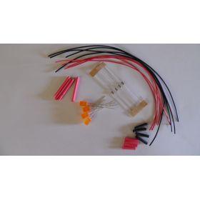Led cylindrique 5mm orange diffusant à câbler - par sachet de 4