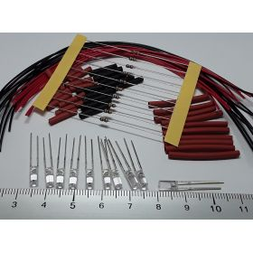 Led cylindrique 3mm long rouge à câbler - par sachet de 10