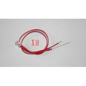 Led Clignotante 5mm Rouge - Par sachet de 10