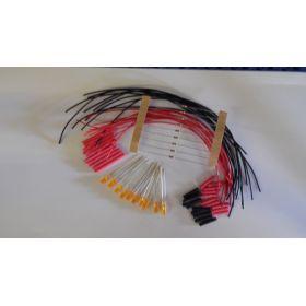 Led tube cylindrique 3mm long orange diffusant à câbler - par sachet de 10