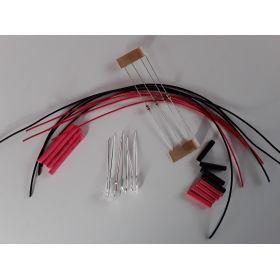 Led cylindrique 3mm court rouge à câbler - par sachet de 4