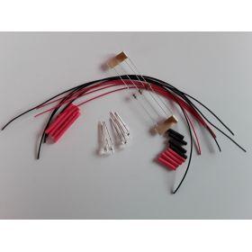 Led Clignotante 3mm Rouge à Câbler - Par sachet de 4