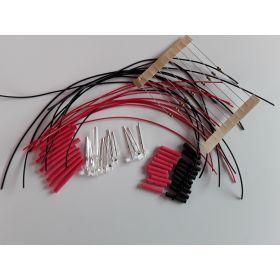 Led Clignotante 3mm Rouge à Câbler - Par sachet de 10
