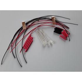 Led Clignotante 3mm Rouge/Blanc Opaque à Câbler - Par sachet de 4