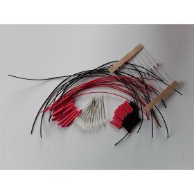 Led Clignotante 3mm Rouge/Blanc Opaque à Câbler - Par sachet de 10