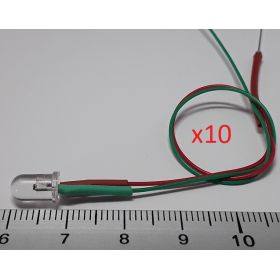 Led 5mm clignotante vert et rouge - par sachet de 10