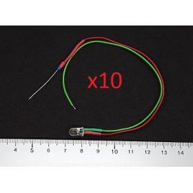 Led 5mm clignotante verte et rouge - par sachet de 10