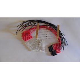 Led canon long 2mm bi-couleur blanc/rouge à câbler - par sachet de 10